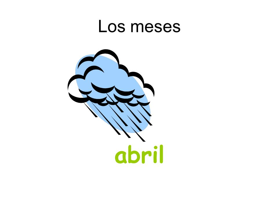 Los meses abril