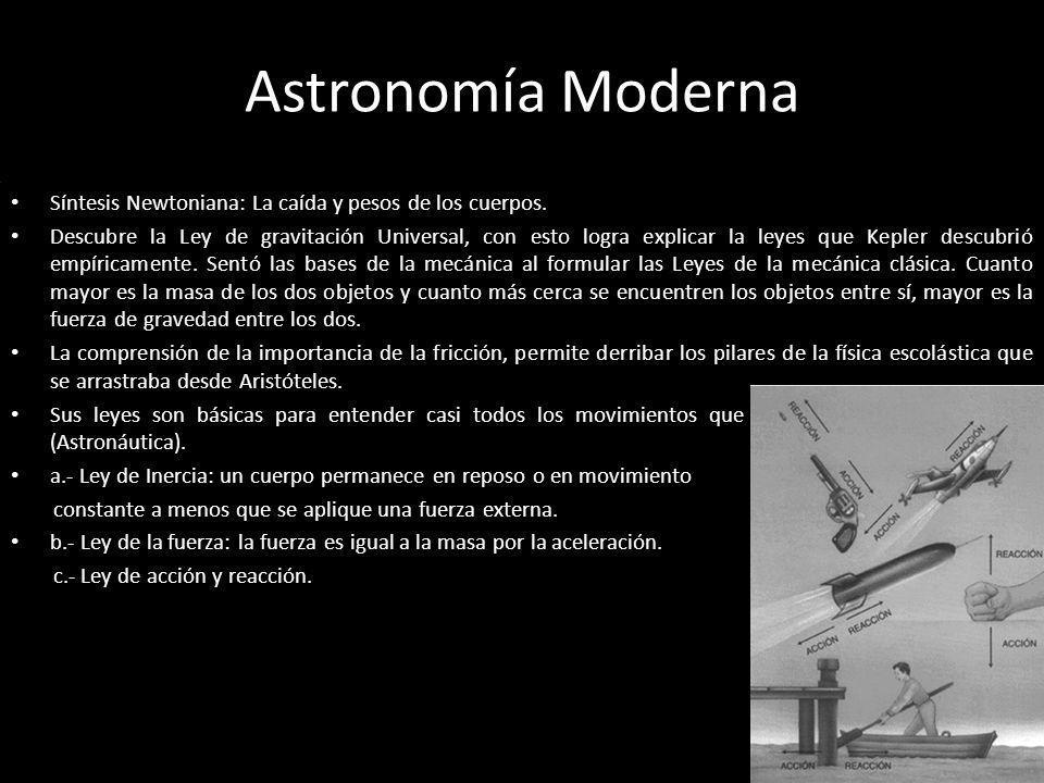 Astronomía Moderna Síntesis Newtoniana: La caída y pesos de los cuerpos.