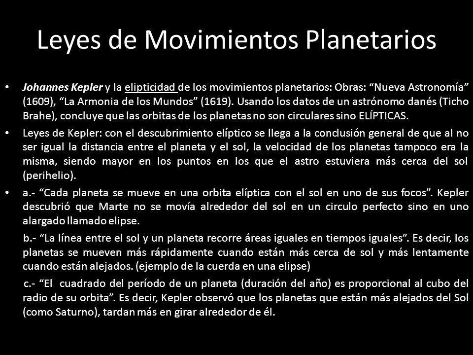 Leyes de Movimientos Planetarios
