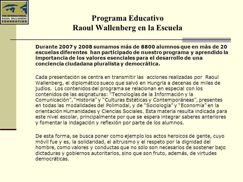 Programa Educativo Raoul Wallenberg en la Escuela