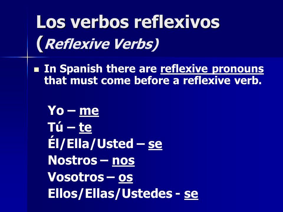 Los verbos reflexivos (Reflexive Verbs)