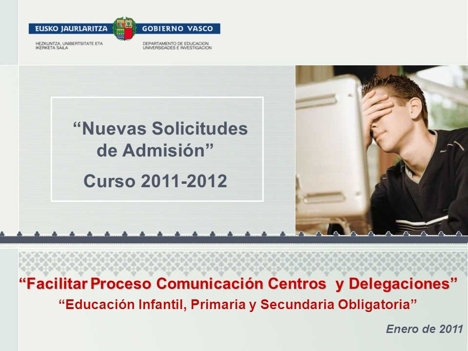 Nuevas Solicitudes de Admisión Curso 2011-2012