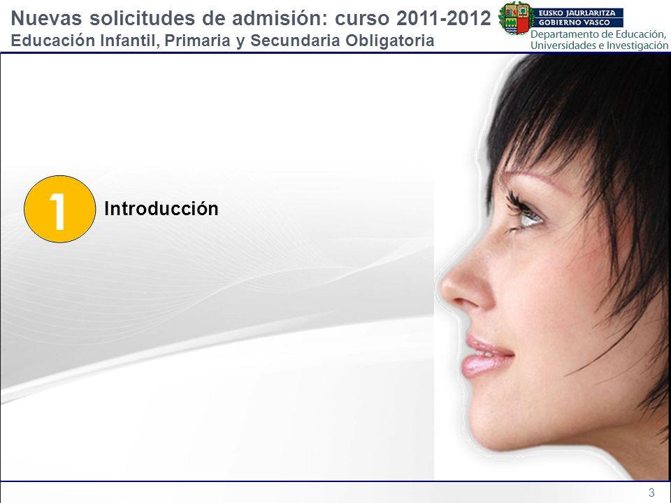1 Nuevas solicitudes de admisión: curso 2011-2012 Introducción