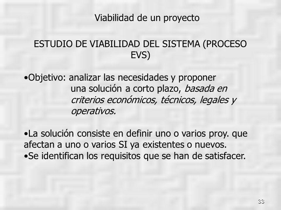 ESTUDIO DE VIABILIDAD DEL SISTEMA (PROCESO EVS)