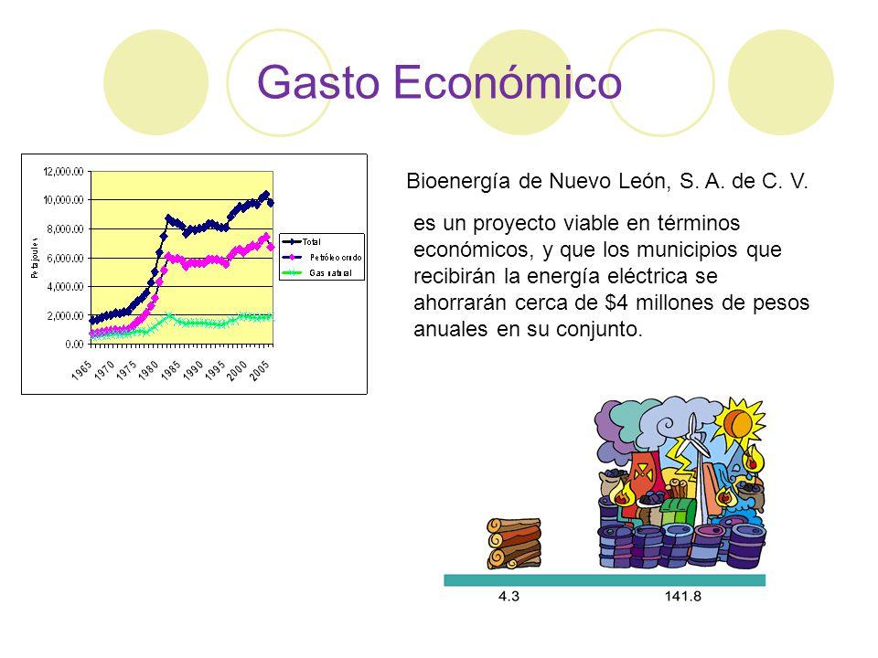 Gasto Económico Bioenergía de Nuevo León, S. A. de C. V.