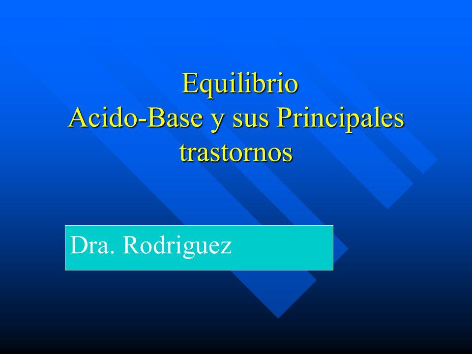 Equilibrio Acido-Base y sus Principales trastornos