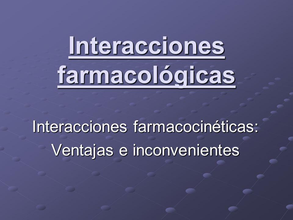 Interacciones farmacológicas