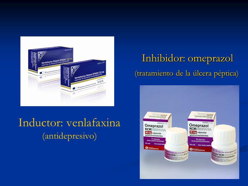 Inductor: venlafaxina (antidepresivo)
