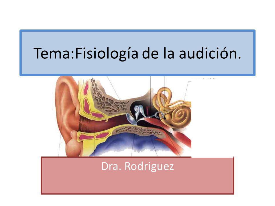 Tema:Fisiología de la audición.