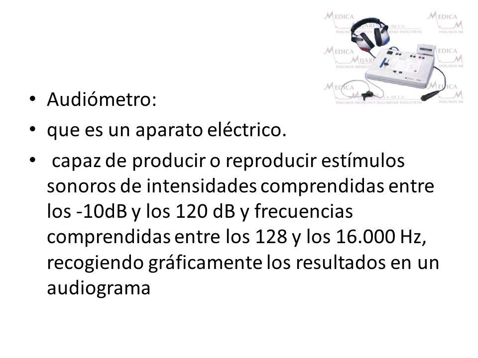 Audiómetro: que es un aparato eléctrico.