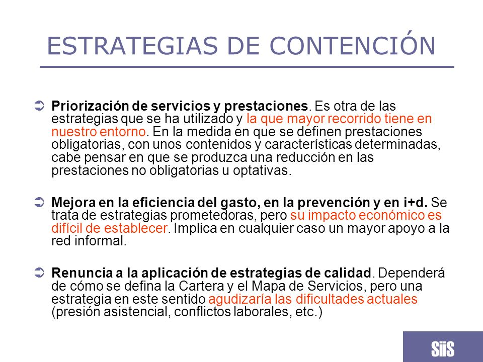 ESTRATEGIAS DE CONTENCIÓN