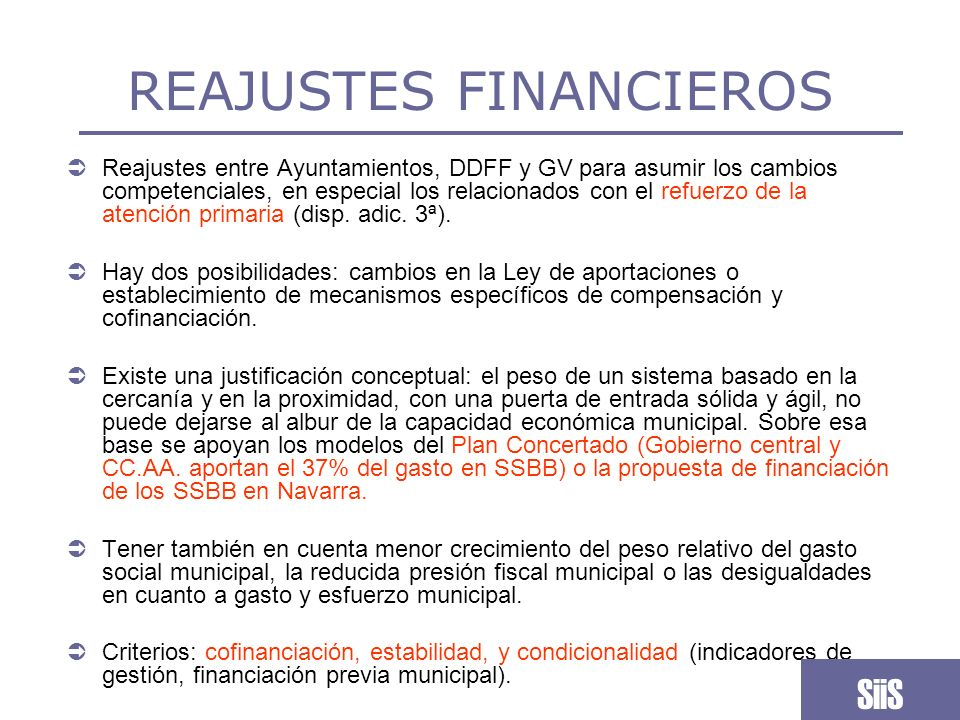 REAJUSTES FINANCIEROS