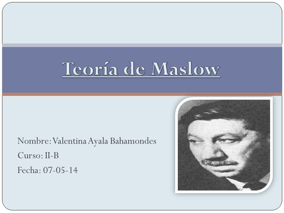 Nombre: Valentina Ayala Bahamondes Curso: II-B Fecha: 07-05-14