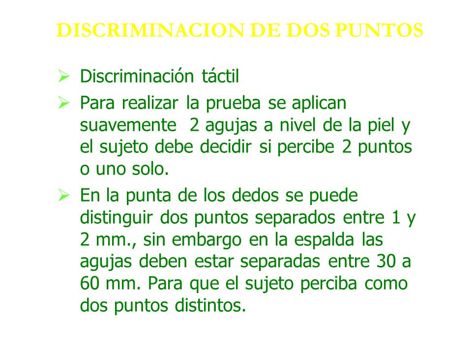 DISCRIMINACION DE DOS PUNTOS