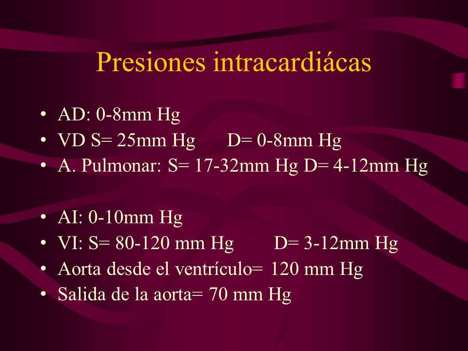 Presiones intracardiácas