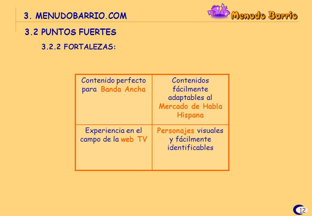 3. MENUDOBARRIO.COM 3.2 PUNTOS FUERTES 3.2.2 FORTALEZAS:
