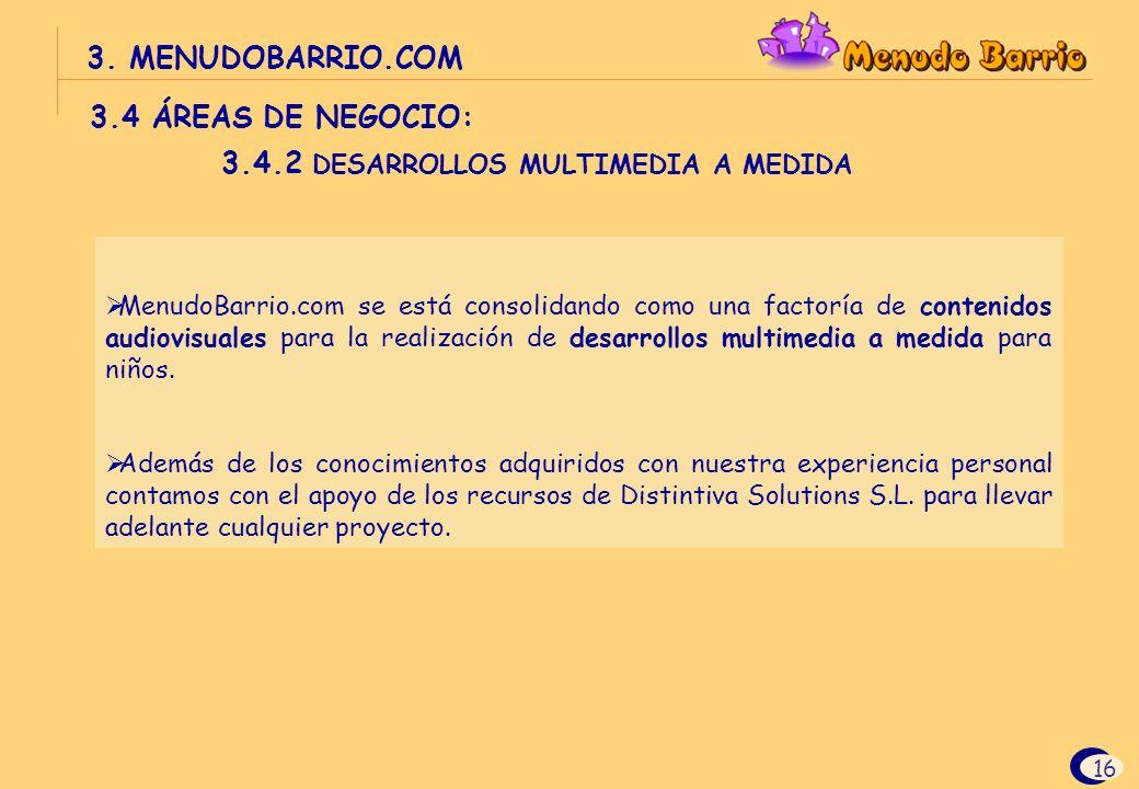 3.4.2 DESARROLLOS MULTIMEDIA A MEDIDA
