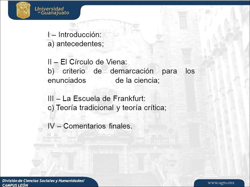 II – El Círculo de Viena: