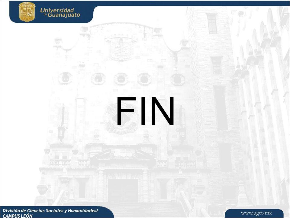 FIN División de Ciencias Sociales y Humanidades/ CAMPUS LEÓN