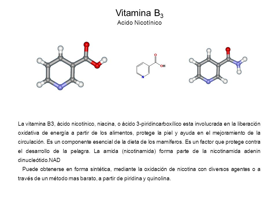 Vitamina B3 Acido Nicotínico