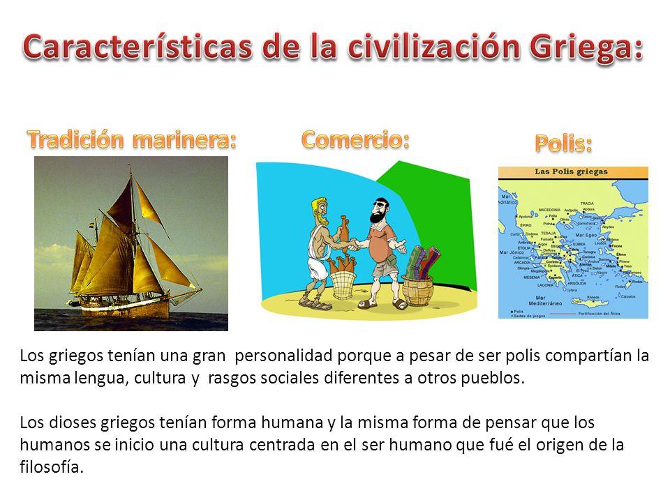 Características de la civilización Griega: