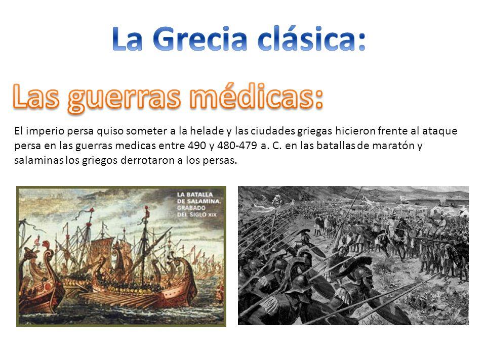 La Grecia clásica: Las guerras médicas: