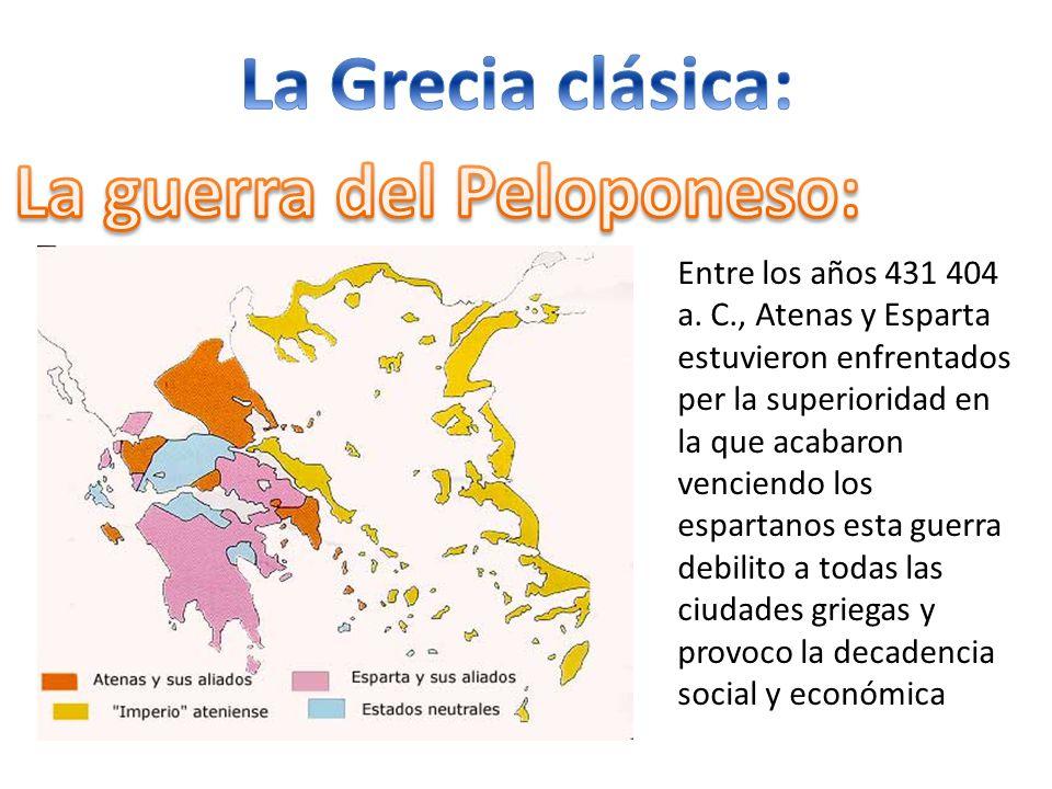 La guerra del Peloponeso: