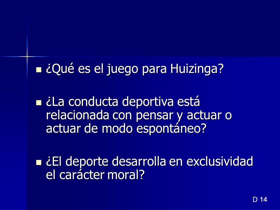 ¿Qué es el juego para Huizinga