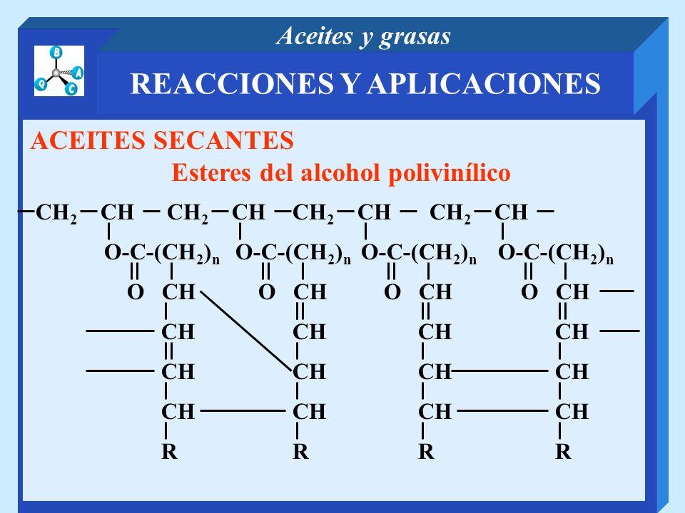 REACCIONES Y APLICACIONES Esteres del alcohol polivinílico