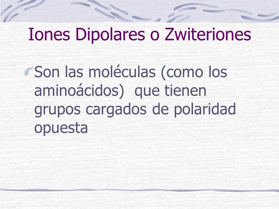 Iones Dipolares o Zwiteriones