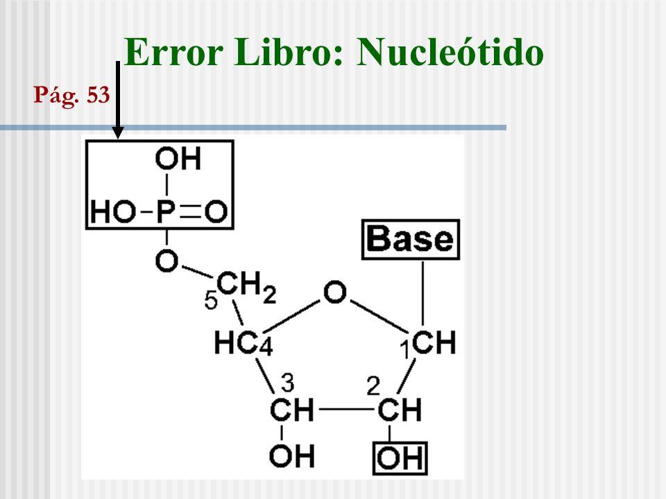 Error Libro: Nucleótido