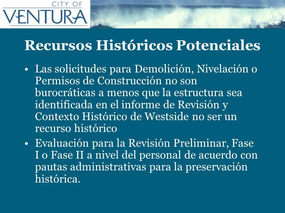 Recursos Históricos Potenciales