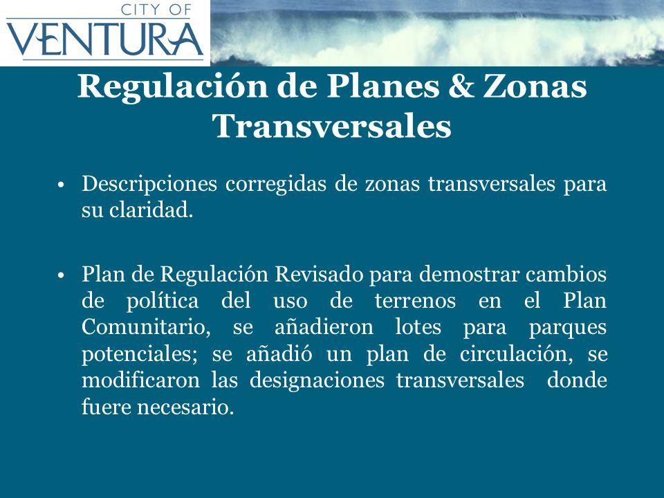 Regulación de Planes & Zonas Transversales