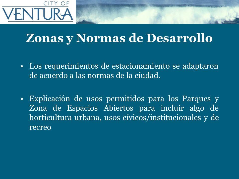 Zonas y Normas de Desarrollo