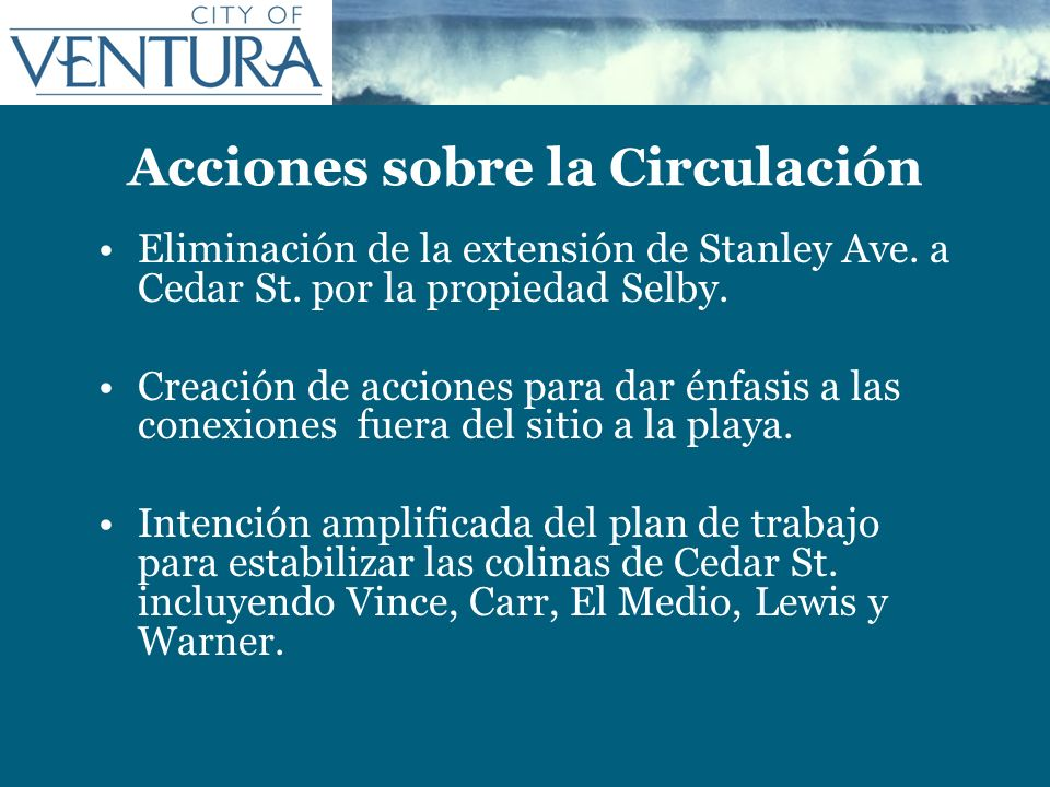 Acciones sobre la Circulación