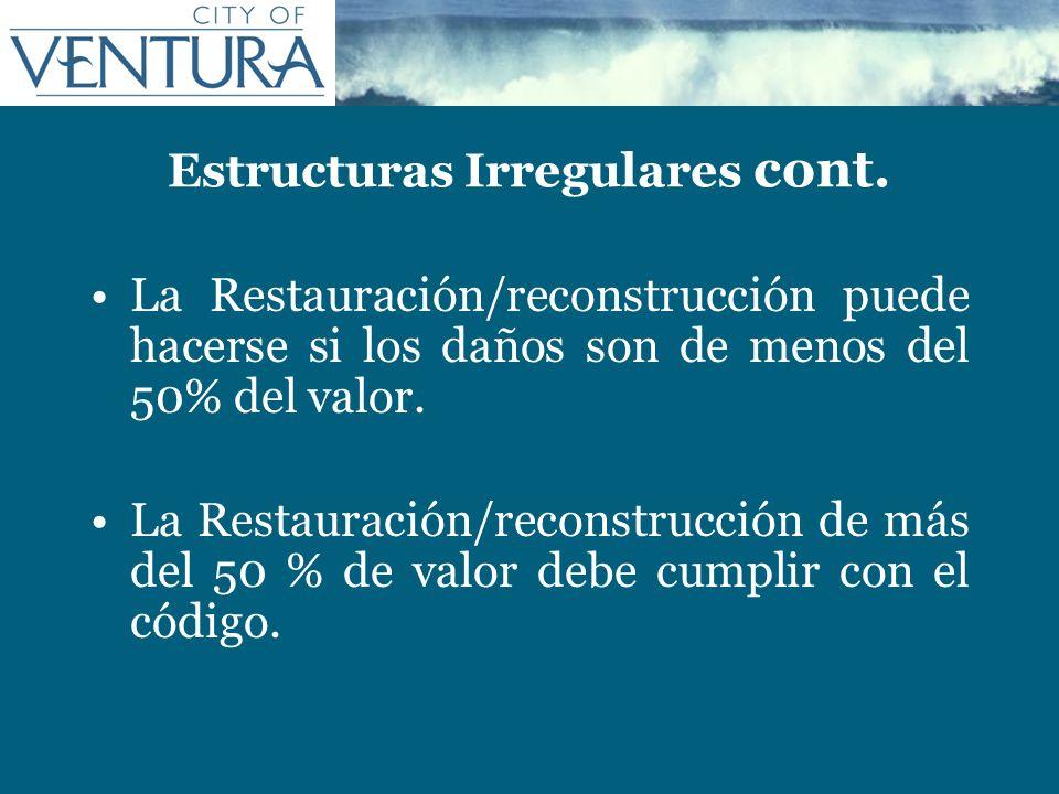 Estructuras Irregulares cont.