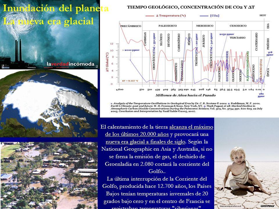 Inundación del planeta La nueva era glacial