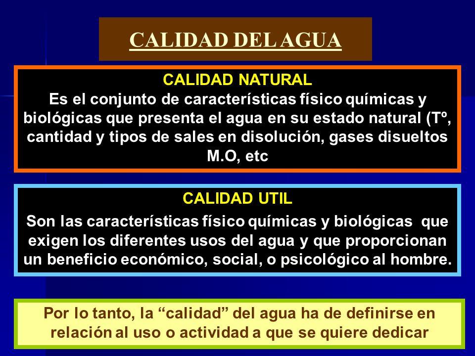CALIDAD DEL AGUA CALIDAD NATURAL