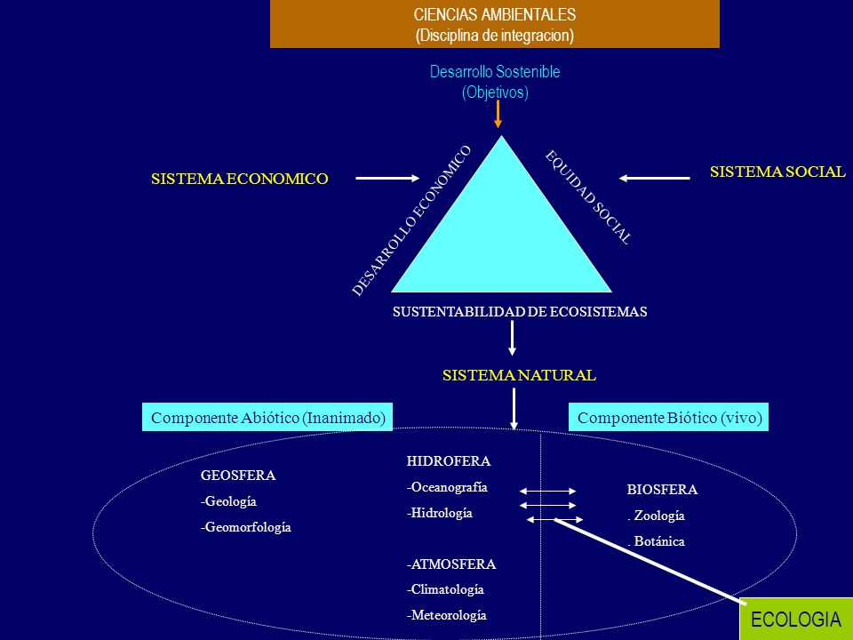 ECOLOGIA CIENCIAS AMBIENTALES (Disciplina de integracion)