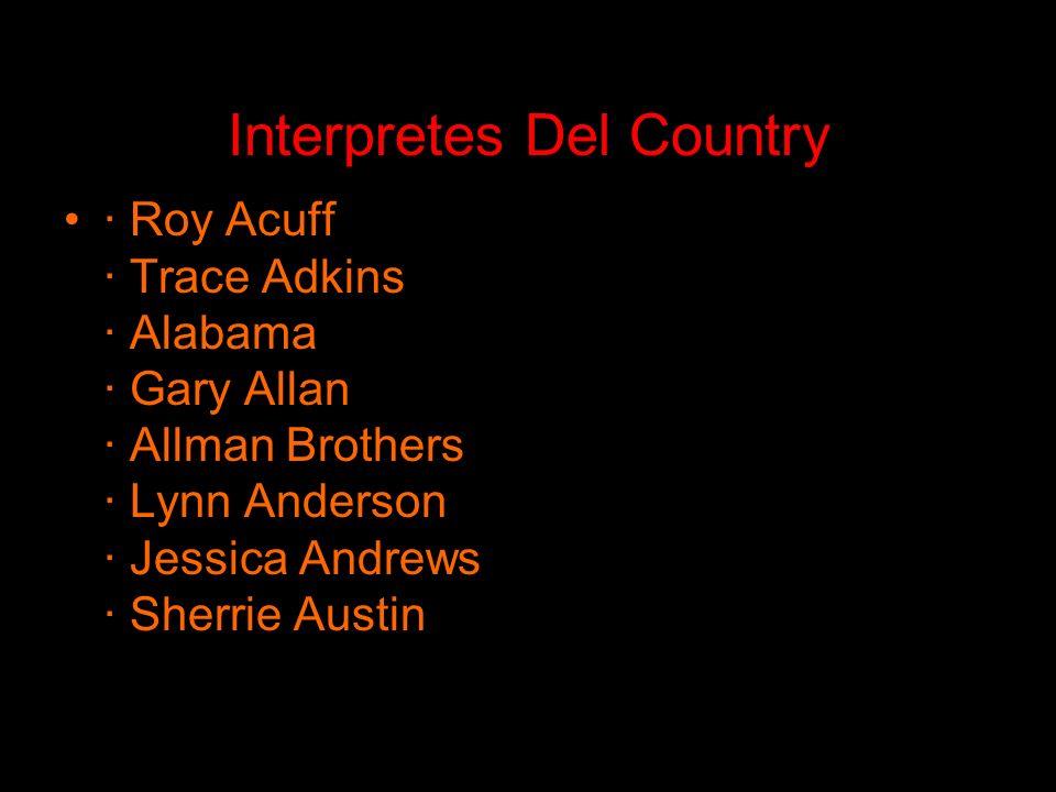 Interpretes Del Country