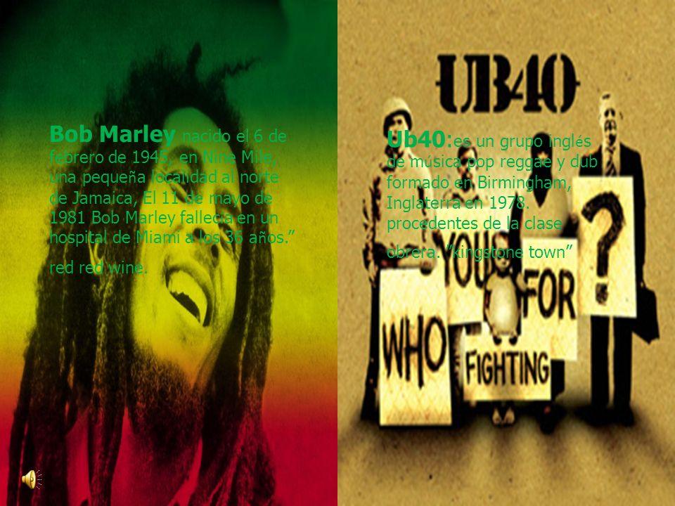 Bob Marley nacido el 6 de febrero de 1945, en Nine Mile, una pequeña localidad al norte de Jamaica, El 11 de mayo de 1981 Bob Marley fallecía en un hospital de Miami a los 36 años. red red wine.