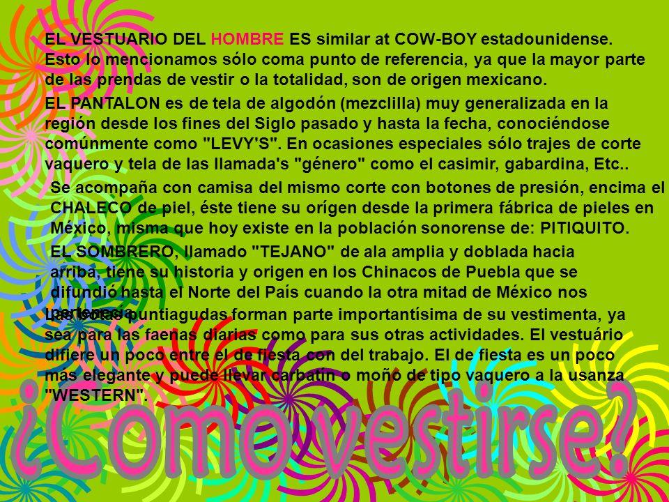 EL VESTUARIO DEL HOMBRE ES similar at COW-BOY estadounidense