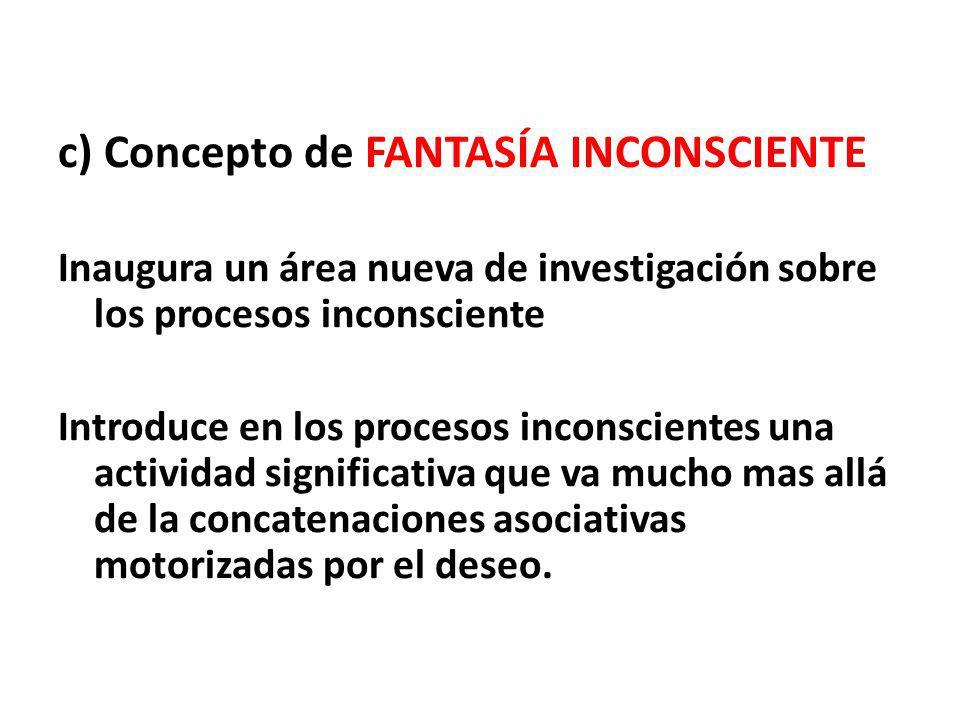 c) Concepto de FANTASÍA INCONSCIENTE