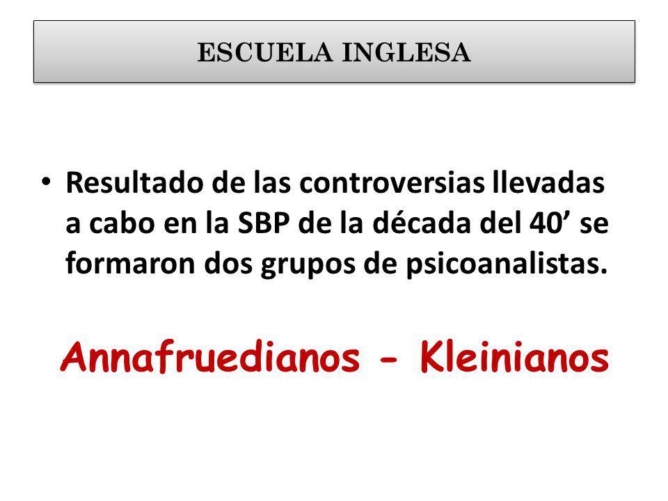 Annafruedianos - Kleinianos
