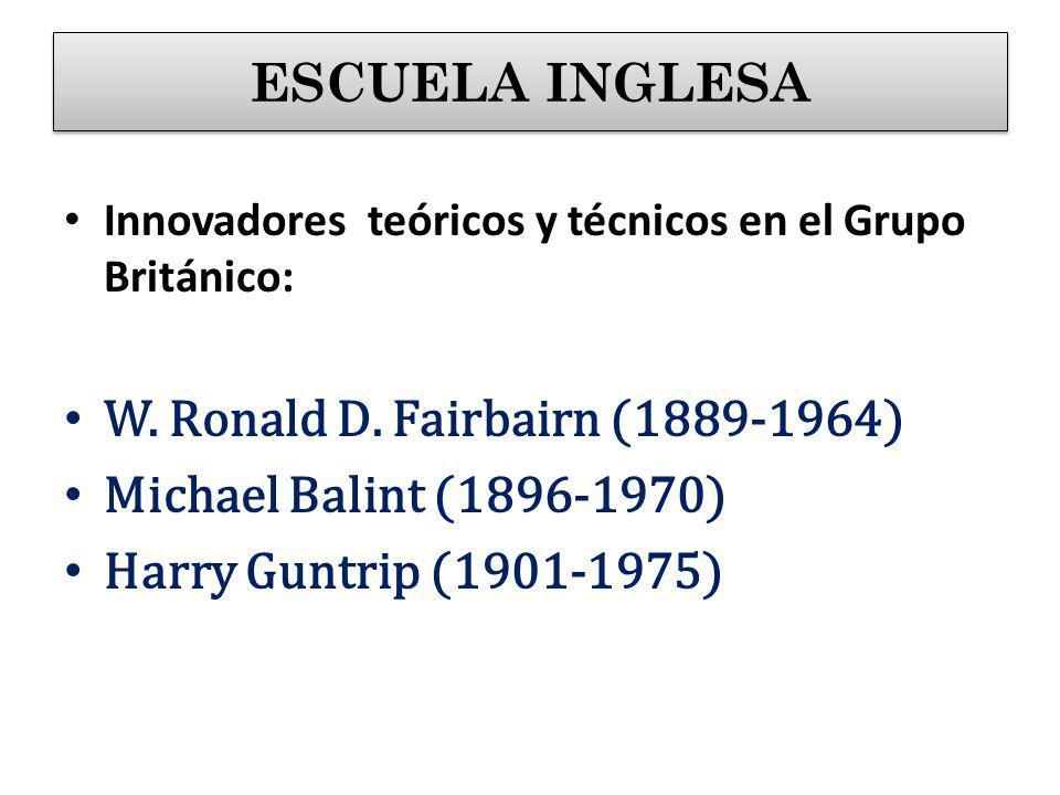 W. Ronald D. Fairbairn (1889-1964) Michael Balint (1896-1970)