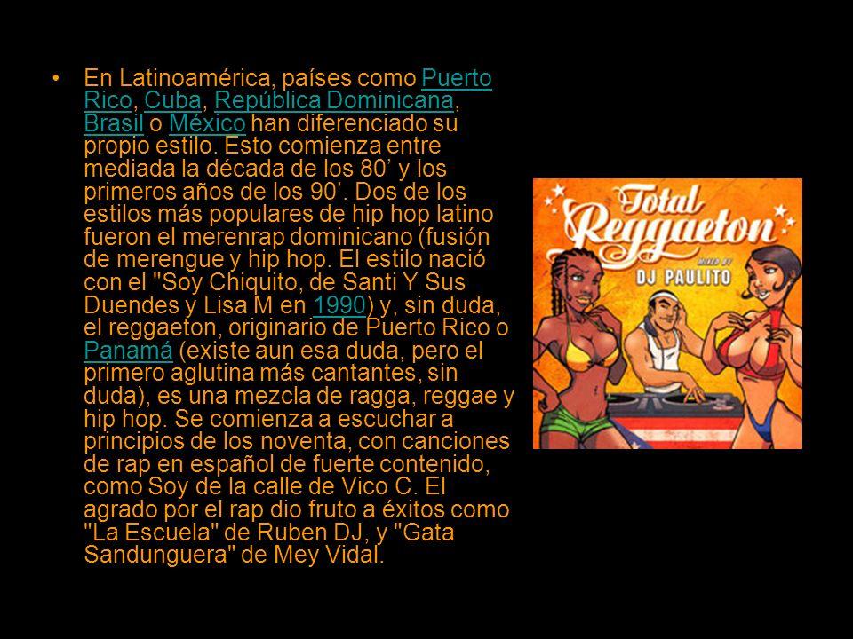 En Latinoamérica, países como Puerto Rico, Cuba, República Dominicana, Brasil o México han diferenciado su propio estilo.
