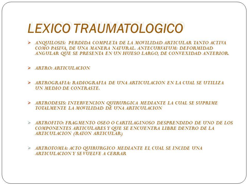 LEXICO TRAUMATOLOGICO