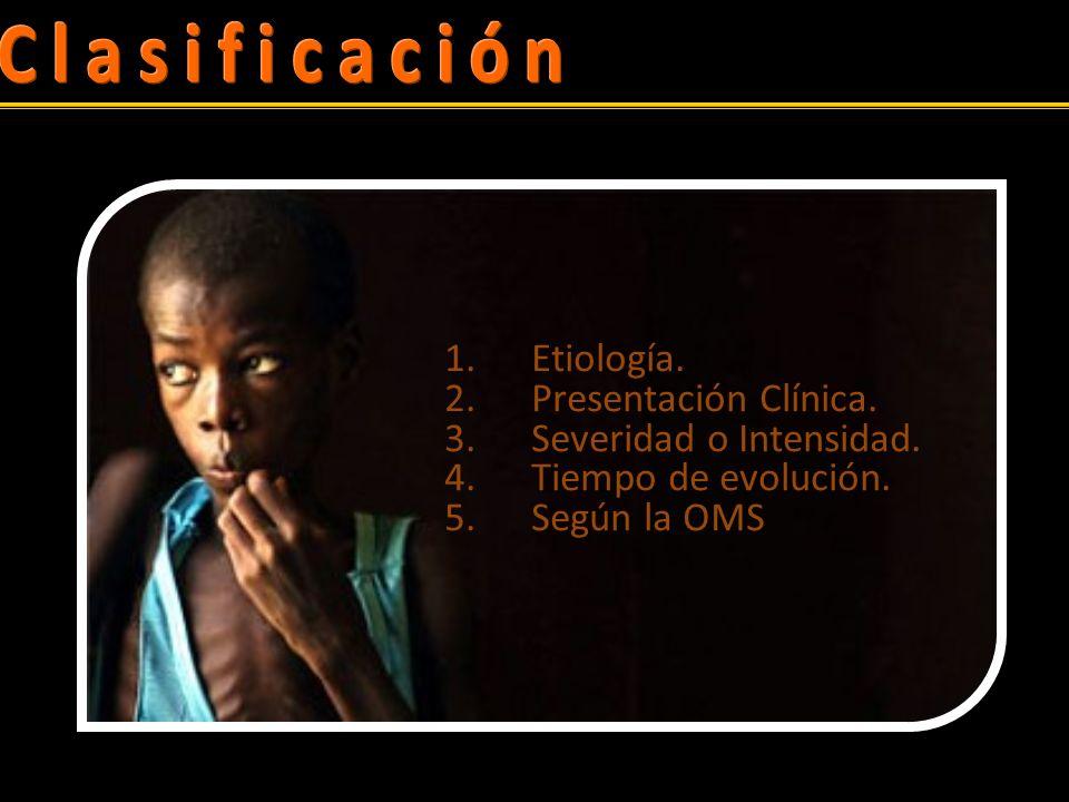 Clasificación Etiología. Presentación Clínica. Severidad o Intensidad.