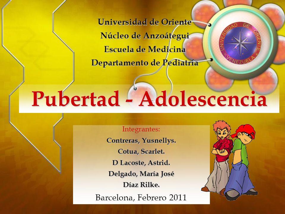 Pubertad - Adolescencia