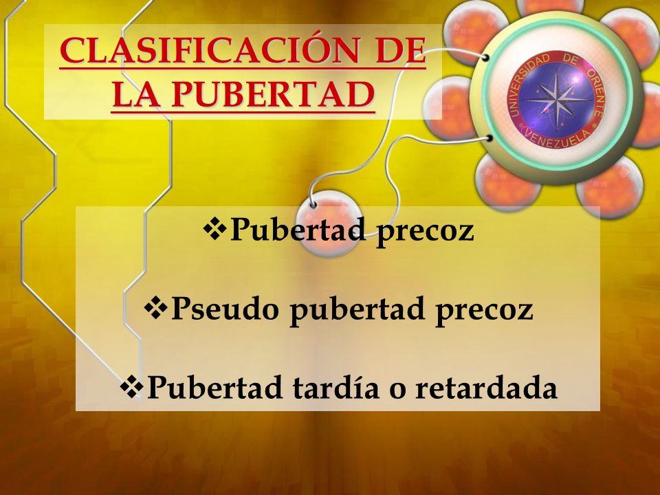 CLASIFICACIÓN DE LA PUBERTAD